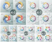 环绕信息图表矢量素材