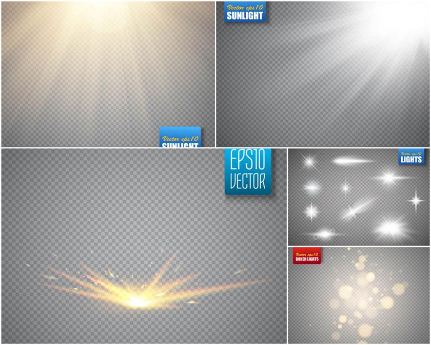 阳光光效矢量素材