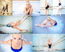 练习芭蕾舞女人摄影高清图片