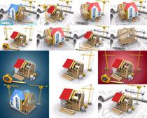 建筑3D模型房屋图纸摄影高清图片