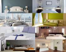 室内家居床拍摄高清图片