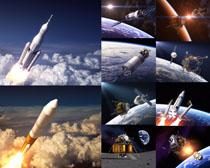 发射火箭天空摄影高清图片