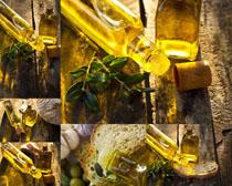瓶子里的油摄影高清图片