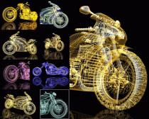 3维立体摩托车摄影高清图片