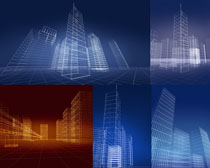 3D绘画建筑楼房摄影高清图片
