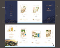 别墅户型折页设计模板时时彩平台娱乐