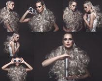 个性发型女子摄影高清图片