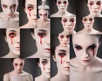 恐怖的女人摄影高清图片