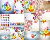 彩色气球拍摄高清图片