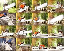 锯树工具摄影高清图片