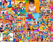 玩耍的国外儿童摄影高清图片