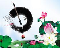 中国风夏至宣传海报设计PSD源文件