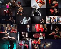 打拳击的女人摄影高清图片