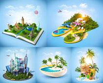 創意旅游景觀拍攝高清圖片