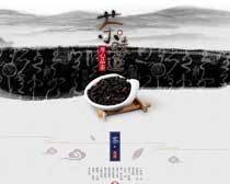 淘宝茶叶店铺首页设计模板PSD模板