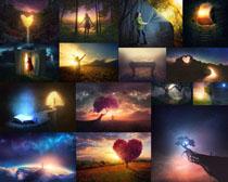 夜空美景拍摄高清图片