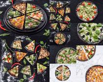 国外披萨美食拍摄高清图片