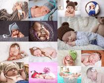 熟睡的写真宝宝摄影高清图片
