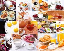 面包牛奶鸡蛋早餐拍摄高清图片