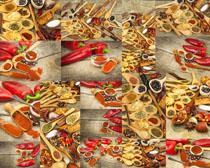 辣椒粉原料摄影高清图片