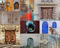 复古墙壁门摄影高清图片