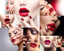 化妆口红女子摄影高清图片