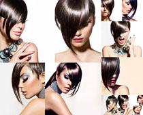 时尚个性发型女人摄影高清图片
