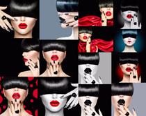 模特化妆女子拍摄高清图片