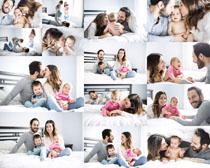 快乐恩爱一家人摄影高清图片
