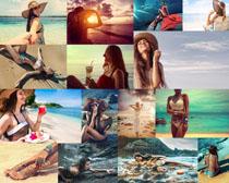 海滩性感美女拍摄高清图片