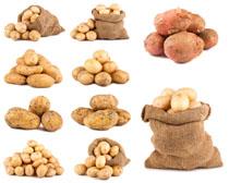 新鲜地瓜马铃薯摄影高清图片