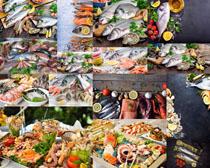 海鲜排档展示摄影高清图片