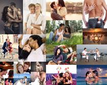 恩爱的甜蜜情侣摄影高清图片