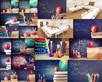教室学习用品摄影高清图片