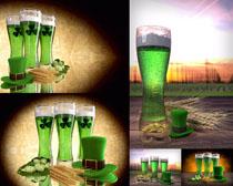 绿色饮料拍摄高清图片