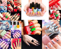 女性指甲油摄影高清图片