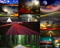 道路景观拍摄高清图片