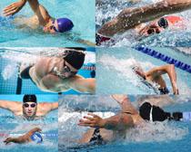 游泳的运动男人摄影高清图片