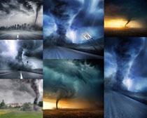 天空龙卷风摄影高清图片
