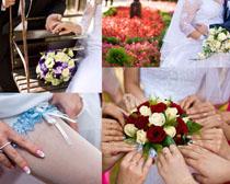 结婚花朵装饰拍摄高清图片