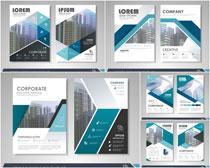 动感企业画册矢量素材