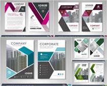 企业画册内页设计矢量素材