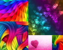 漂亮的彩色图案背景摄影高清图片