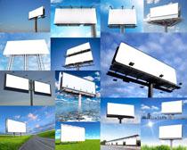 道路高炮广告牌摄影高清图片