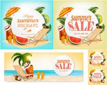 夏日销售吊旗海报设计矢量素材