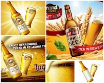 啤酒广告海报矢量素材