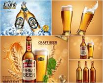 啤酒广告矢量素材