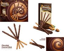 巧克力饼干矢量素材
