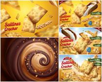 巧克力饼干海报设计矢量素材