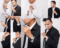 戴手表的商务男人摄影高清图片
